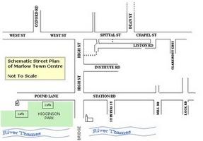 schematic street map